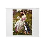 Windflowers & Bernese Throw Blanket