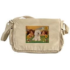 Angels/Bichon Frise Messenger Bag