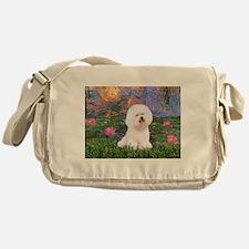 Lilies 4 / Bichon 1 Messenger Bag