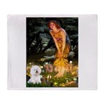 Fairies & Bichon Throw Blanket