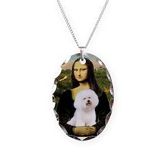 Mona's Bichon Necklace