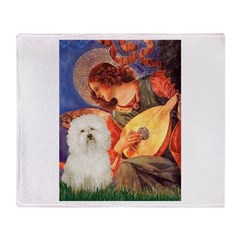Mandolin Angel & Bolognese Throw Blanket