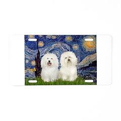 Starry Night / 2 Bolognese Aluminum License Plate