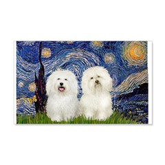 Starry Night / 2 Bolognese Wall Decal