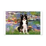 Lilies & Border Collie 20x12 Wall Decal
