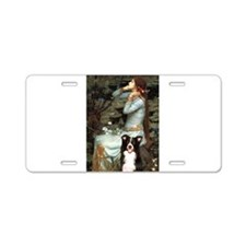 Ophelia & Border Collie Aluminum License Plate