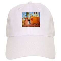 Room with Border Collie Baseball Cap