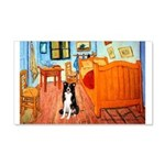 Room with Border Collie 20x12 Wall Decal