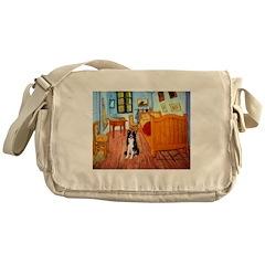 Room with Border Collie Messenger Bag