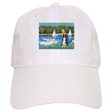Sailboats & Border Collie Baseball Cap