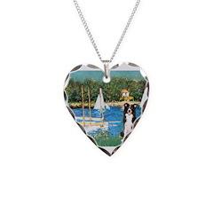 Sailboats & Border Collie Necklace