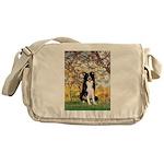 Spring & Border Collie Messenger Bag
