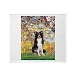 Spring & Border Collie Throw Blanket