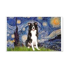 Starry Night Border Collie Wall Decal