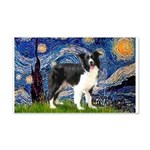 Starry / Border Collie (Z) 20x12 Wall Decal