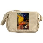 Cafe / Border Collie (Z) Messenger Bag