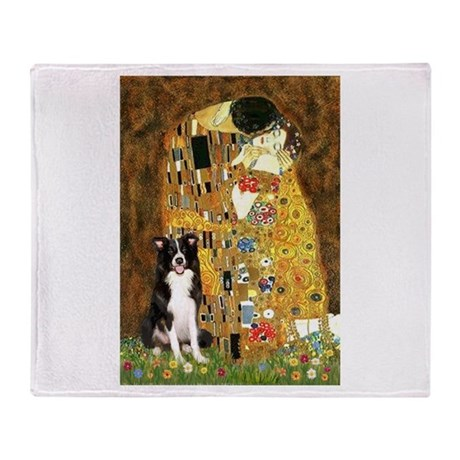 The Kiss & Border Collie Throw Blanket