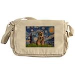 Starry Night / Border Terrier Messenger Bag