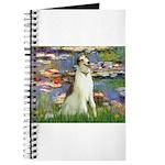 Borzoi in Monet's Lilies Journal
