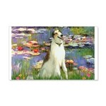 Borzoi in Monet's Lilies 20x12 Wall Decal