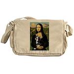 Mona & her Boston Ter Messenger Bag