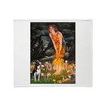 Fairies & Boston Terrier Throw Blanket