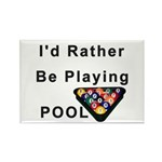 rather play pool Rectangle Magnet (100 pack)