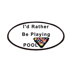 rather play pool Patches