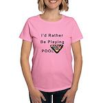 rather play pool Women's Dark T-Shirt