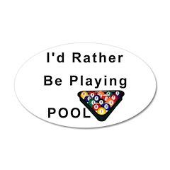 rather play pool 38.5 x 24.5 Oval Wall Peel