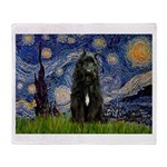 Starry Night Bouvier Throw Blanket