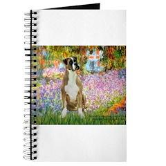 Boxer in Monet's Garden Journal