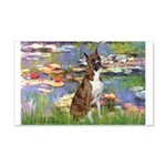 Lilies & Brindle Boxer 20x12 Wall Decal
