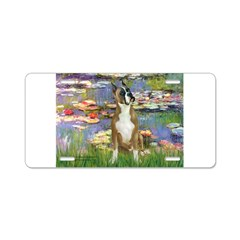 Boxer (1) in Monet's Lilies Aluminum License Plate