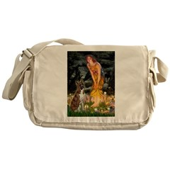 Fairies & Boxer Messenger Bag