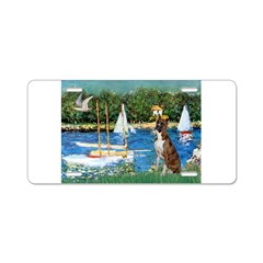 Sailboats & Boxer Aluminum License Plate