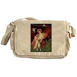 Seated Angel & Boxer Messenger Bag