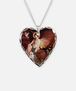 Seated Angel & Boxer Necklace