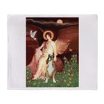 Seated Angel & Boxer Throw Blanket