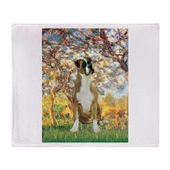 Spring with a Boxer Throw Blanket