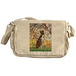 Spring with a Boxer Messenger Bag