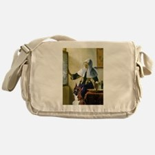 Woman & Boxer Messenger Bag