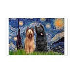 Starry - 2 Briards 20x12 Wall Decal