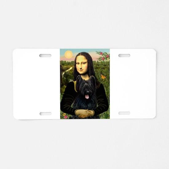 Mona / Briard Aluminum License Plate