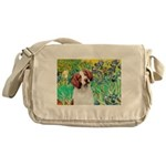 Irises/Brittany Messenger Bag