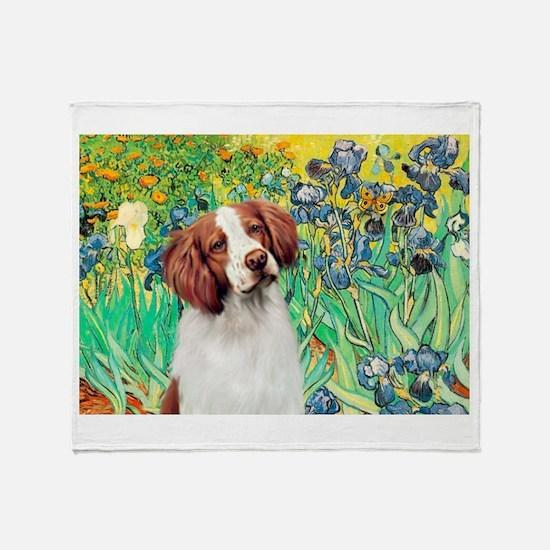Irises/Brittany Throw Blanket