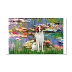 Lilies 2/Brittany Spaniel Wall Decal