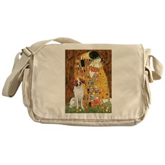 Kiss/Brittany Spaniel Messenger Bag