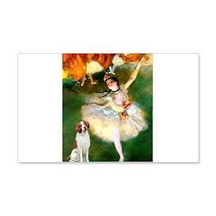 Dancer/Brittany Spaniel Wall Decal