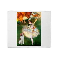 Dancer/Brittany Spaniel Throw Blanket